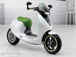 The escooter concept above was debuted during the 2010 Paris Motor Show and may represent what we can expect from smart and Vectrix come 2014.